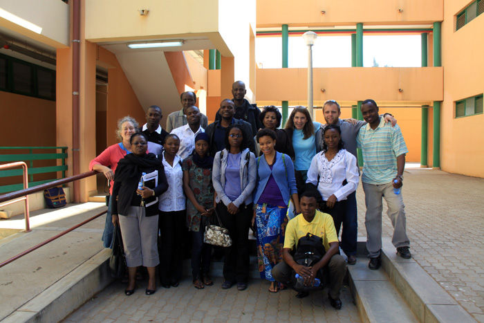 Project partners at Eduardo Mondlane University, Maputo